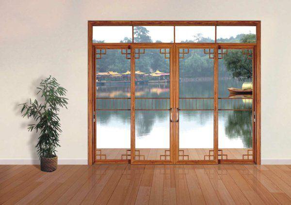 la porte coulissante vitr e la peinture est la nature doors and windows pinterest style. Black Bedroom Furniture Sets. Home Design Ideas