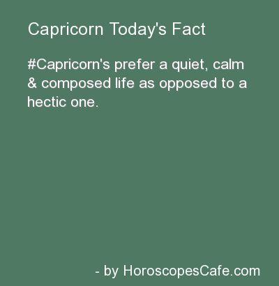 Capricorn Daily Fun Fact