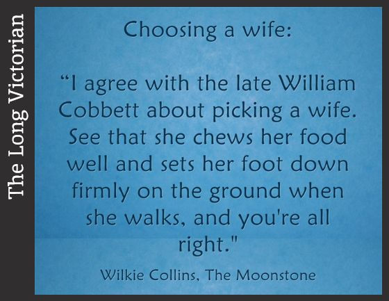 I'm reading The Moonstone slowly, but loving it. I think I could read Wilkie Collins for the food quotes alone!