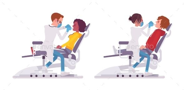 Male And Female Dentist Doctor Female Dentist Dentist Doctor Dentist