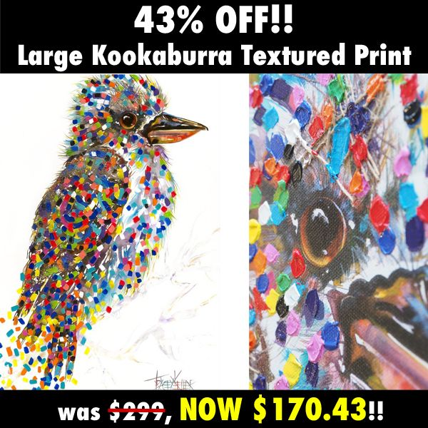 Our #kookaburra is ready to fly!! 43% OFF AND IT'S YOURS!