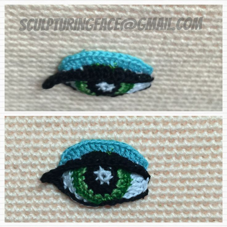 Crochet Amigurumi eye pattern by Sculpturingface:
