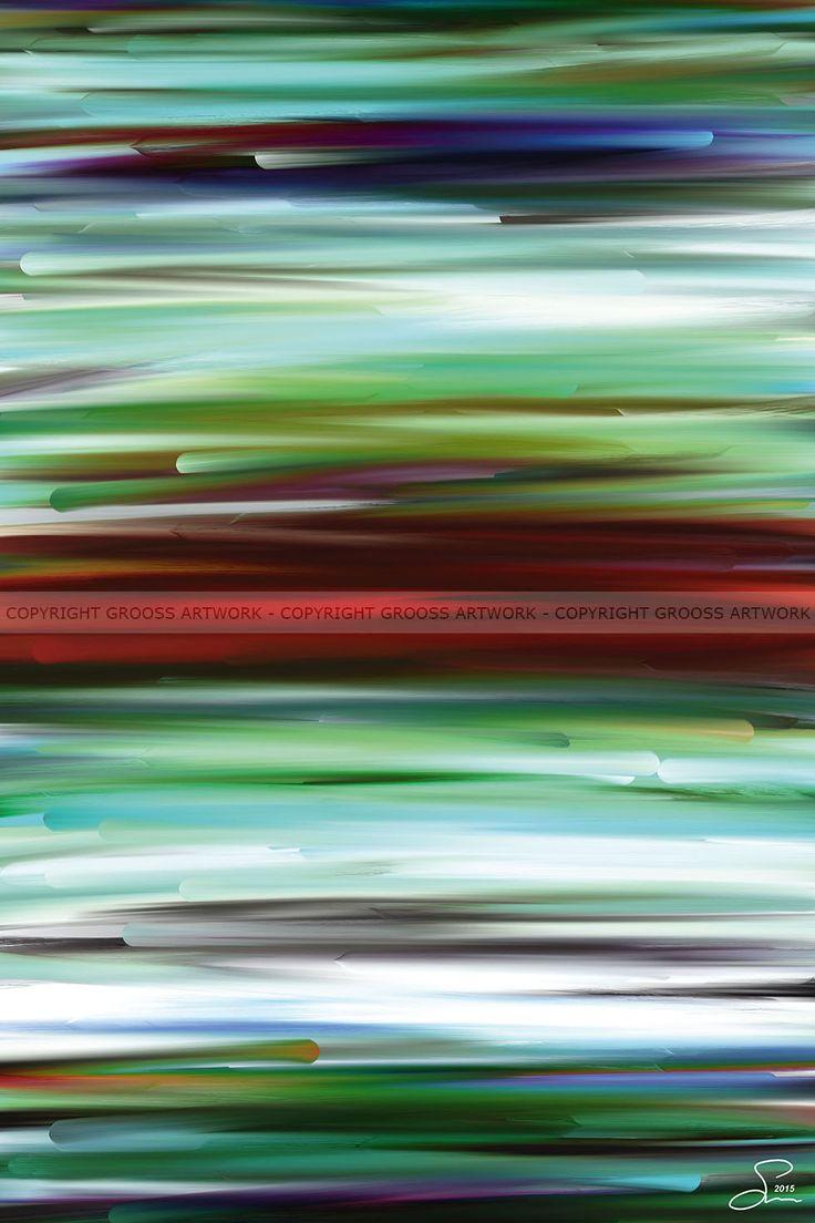 New worlds ''Two'' - 40 X 60 cm - Grafisk kunst på lærred af Søren Grooss