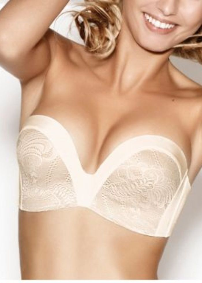 56 best bridal underwear solutions images on pinterest for Best bustier for strapless wedding dress