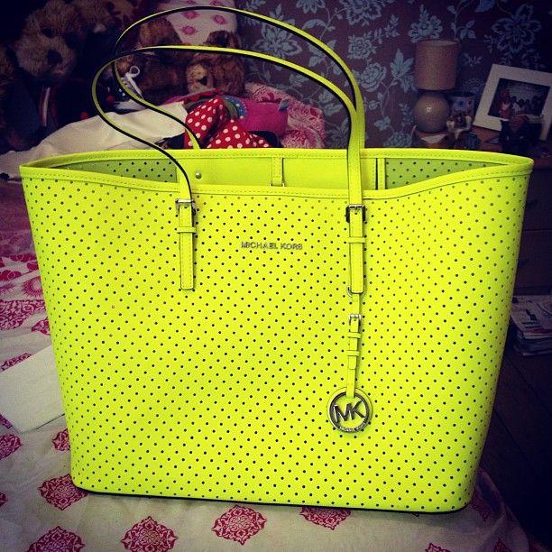 Michael Kors lime green purse