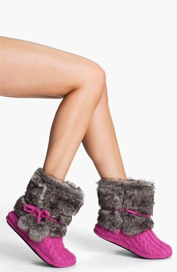 Faux Fur slipper socks