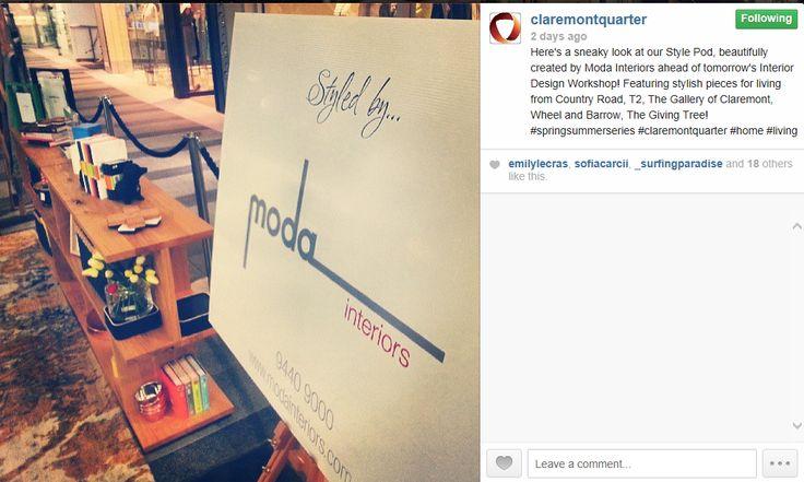 Claremont Quarter Instagram - Workshop Series - Living Room workshop