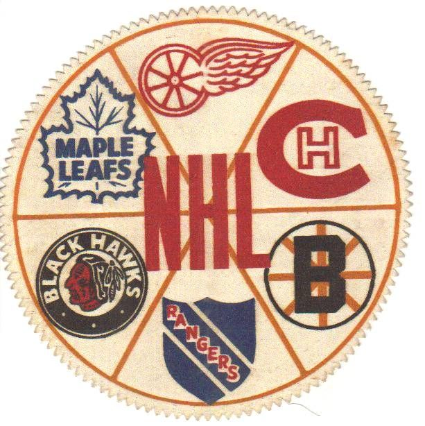 The Original 6... Going in a clockwise pattern.. 1. Detroit Red Wings, 2. Montreal Canadians 3. Boston Bruins 4. New York Rangers 5. Chicago Black Hawks 6. Toronto Maple Leaves