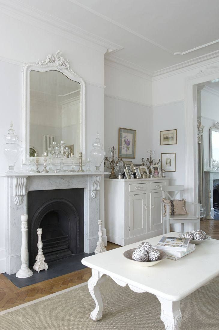 Beautiful marble fireplace and overmantel mirror