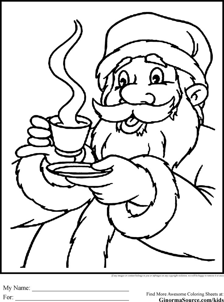 Santa Coloring Pages Cocoa