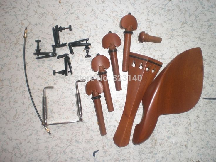 49.99$  Watch now - http://alilzf.shopchina.info/go.php?t=1944666233 - 5 Set Violin parts Jujube wood 4/4 with String Adjuster & tail gut and chin rest screw 49.99$ #buychinaproducts