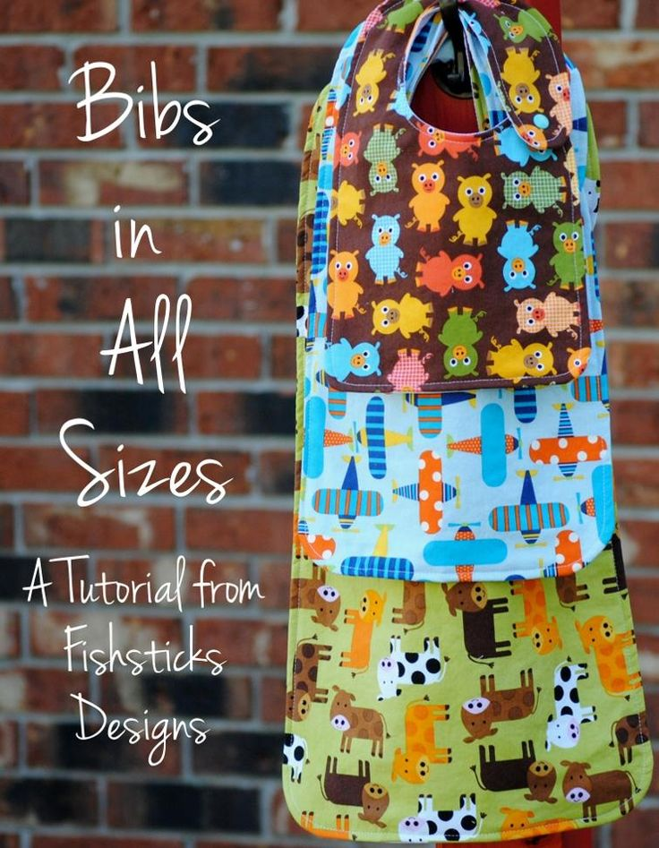 Bibs in All Sizes (Infant through Adult) Free Pattern - https://sewing4free.com/bibs-all-sizes/