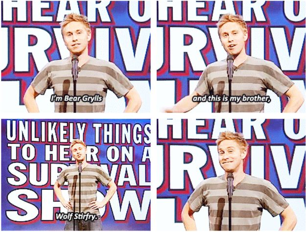"When Russell Howard went full Dad-joke on us, but it was still amazing. | 31 Times ""Mock The Week"" Was The Funniest Show On TV"
