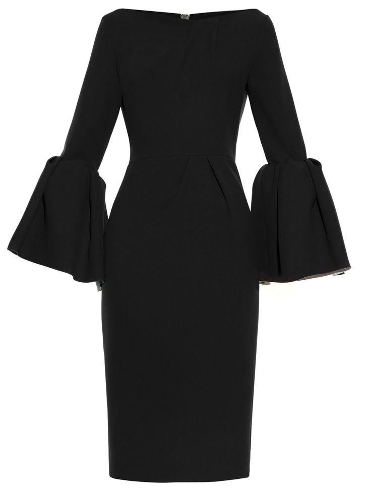 Margot bell-sleeve crepe dress | Roksanda