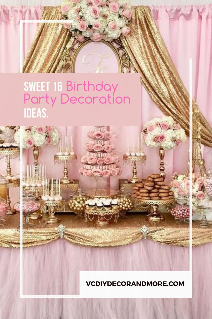 Sweet 16 Party Ideas In 2020 Sweet 16 Party Themes Sweet 16