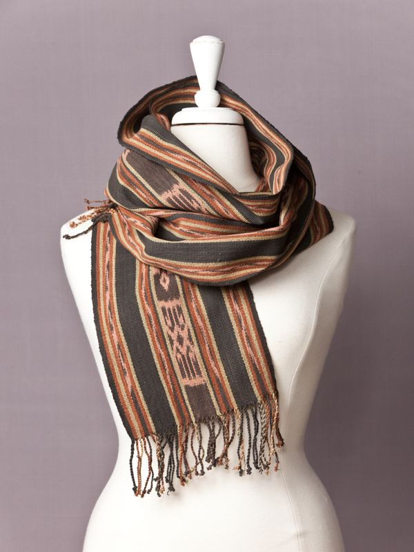 Rose Garden Futus Scarf - $55 - Hand woven, plant dyed cotton. Shop Now