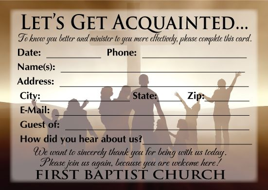 11 Best Pew Cards Images On Pinterest Church Ideas