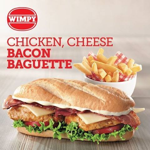 It's time to try the new Chicken, Cheese and Bacon Baguette from Wimpy! A suggestion for lunch perhaps!!