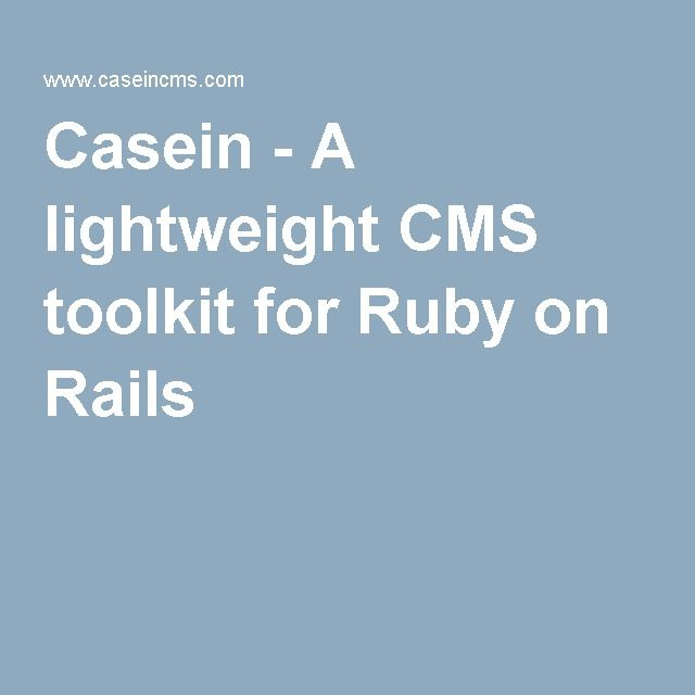 Casein - A lightweight CMS toolkit for Ruby on Rails