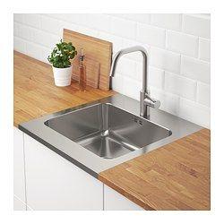 IKEA - AMMERÅN, Einsatzspüle 1 Becken, Inklusive 25 Jahre Garantie. Mehr darüber in der Garantiebroschüre.Mit vorgebohrter Öffnung für eine Küchenmischbatterie.Spüle aus Edelstahl, einem hygienischen, robusten und pflegeleichten Material.Der schallisolierende Belag auf der Unterseite der Spüle dämpft die Geräusche beim Benutzen des Spülbeckens.