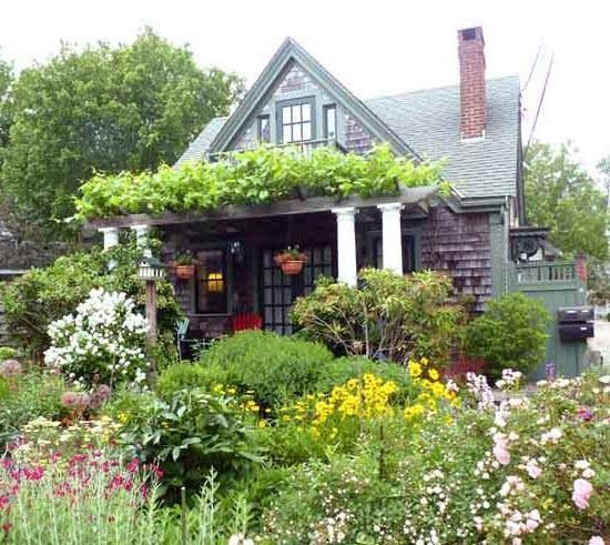 Outdoor Living House Plans, Cottage Garden Cape Cod
