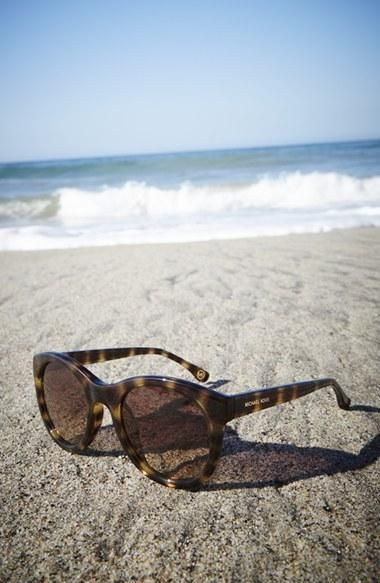 Smitten with the tortoise design on these stunner shades | MICHAEL Michael Kors 'Rosie' Sunglasses