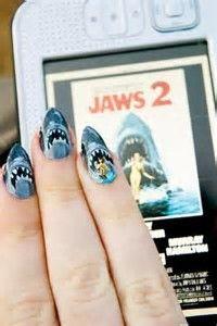 Jaws Inspired Nail Art