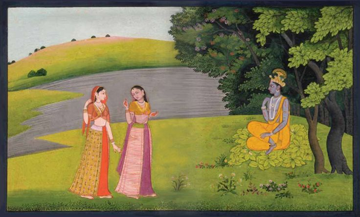 Radha is love — radhakrsna: Krishna Awaits Radha's Arrival from...