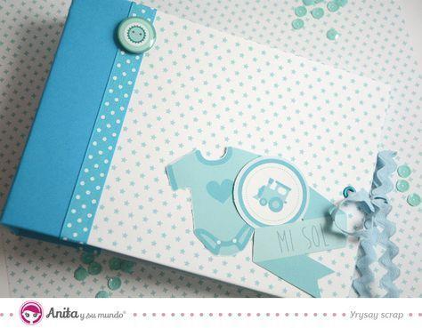 Cómo hacer un álbum de fotos para bebé con encuadernación de espina