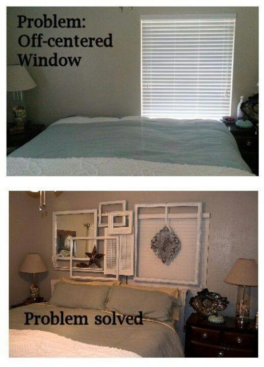 Off center window fix, picture frame wall                                                                                                                                                      More