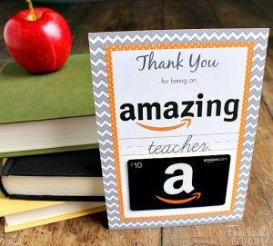 amazon gift card teacher gift