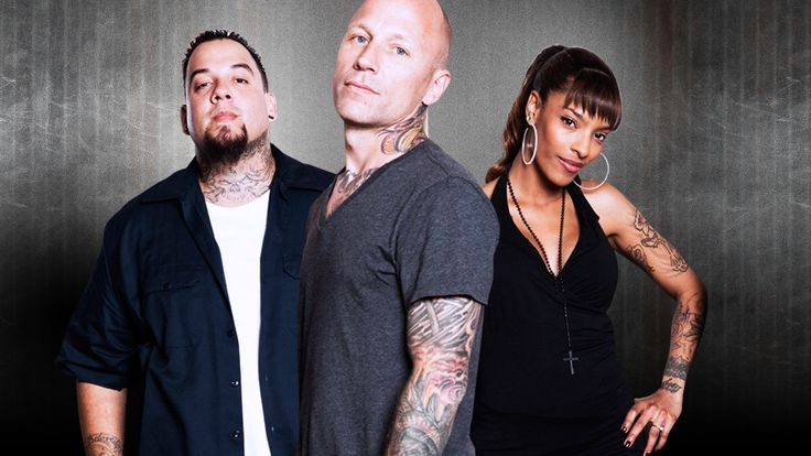 Tommy Helm, Big Gus and Jasmine Rodriguez the awesome team from Tattoo Nightmares : Bald Men of Style