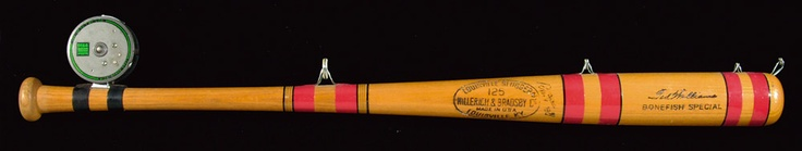 This very unique baseball bat/fishing rod hybrid was custom made for Ted Williams, one of the greatest baseball players who ever lived and also an avid angler.    Ted Williams' Bat Rod, Grizzly Attack and Laser Sharks! WFN's Top Catches is here to once again provide you with some wild and interesting tales! http://www.worldfishingnetwork.com/news/wfns-top-catches-ted-williams-bat-rod-grizzly-attack-laser-sharks-233383.aspx
