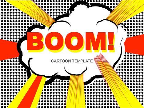 Cartoon Pop Art Template