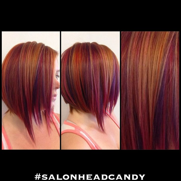 color! Bright red base with purple, red, and orange copper highlights ...