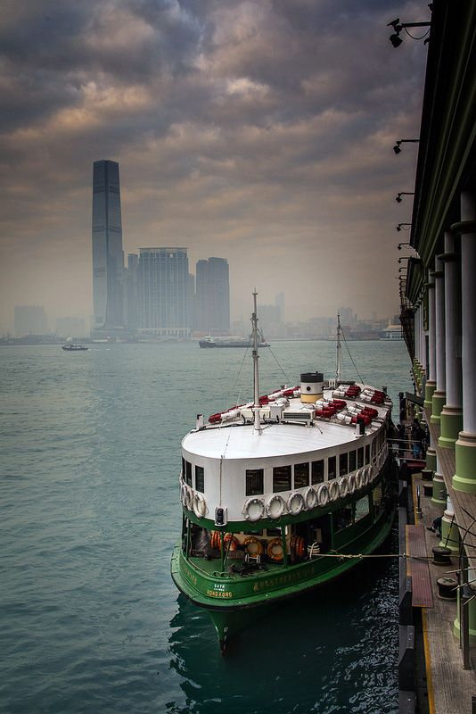Ferry. My favourite mode of transportation from Kowloon to HK Island.