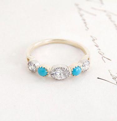 turquoise diamond eternity ring - Google Search