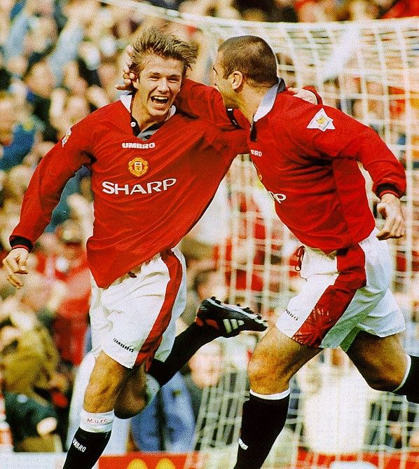 David Beckham and Eric Cantona