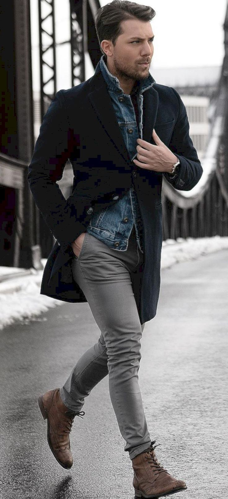 Super Casual Winter Outfit For Modern Men 18 101outfit Com Winter Outfits Men Mens Winter Fashion Mens Fashion Casual Winter