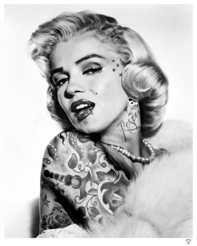 46 best for Marilyn monroe with tattoos poster
