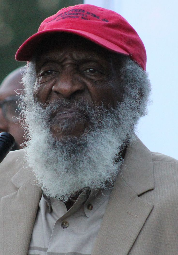 Richard Claxton Gregory (October 12, 1932 – August 19, 2017), known as Dick Gregory, was an American civil rights activist, social critic, writer, entrepreneur, comedian, and actor. In August 2017, Gregory died of an undisclosed illness at a Washington, D.C. hospital, age 84.