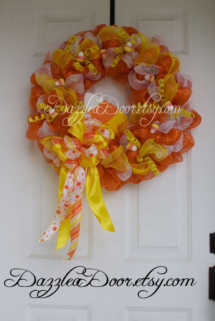 Best 25+ Candy corn wreath ideas on Pinterest | Grandma ...