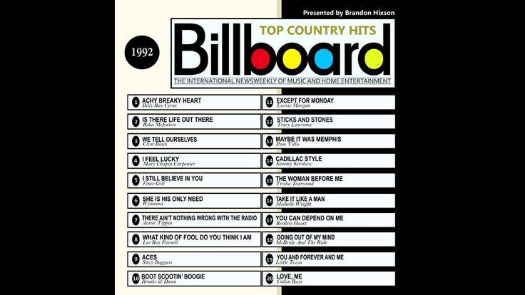 Billboard Top Country Hits 1992 (2016 Full Album)