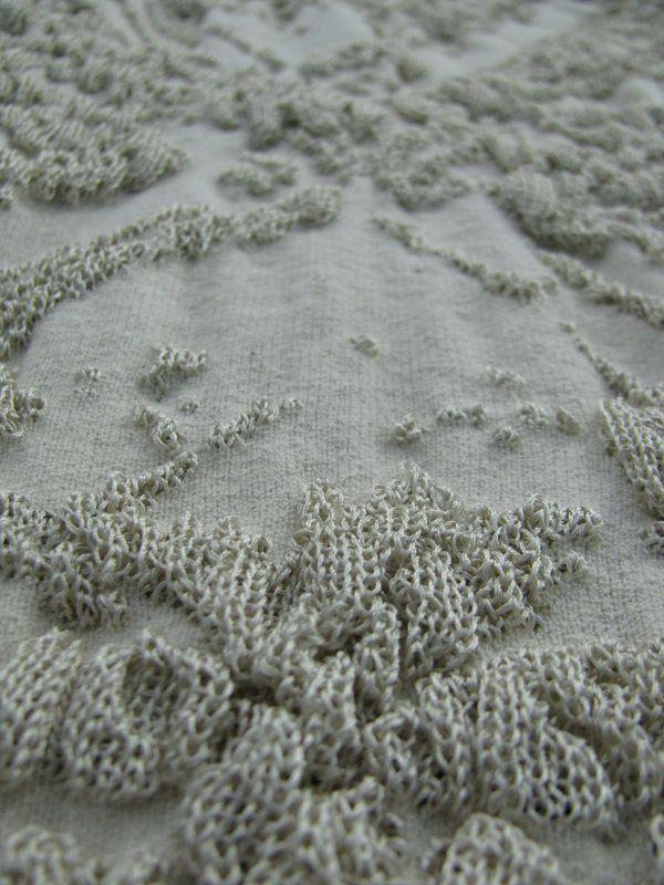 3D Textiles - machine knitted surface patterns & dimensional texture; inspiring knit design // Noa Weil Raviv