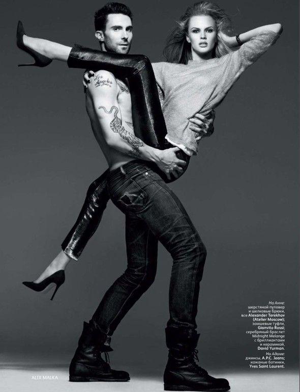 Съёмка: Анна Вялицына и Адам Ливайн для российского Vogue. Изображение № 2.