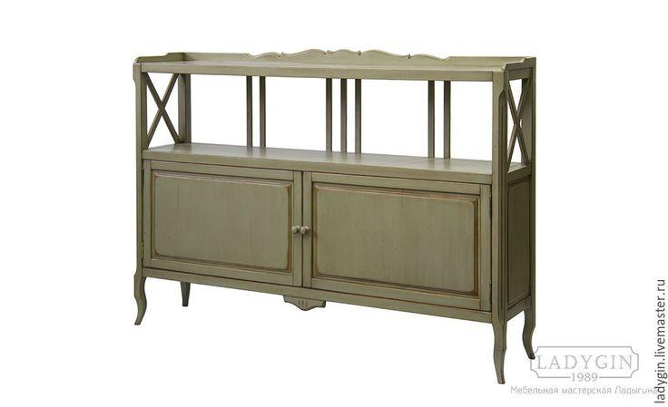 Купить Деревянная консоль с дверками в стиле прованс - деревянная, консоль, прованс, прованский стиль, состаренная