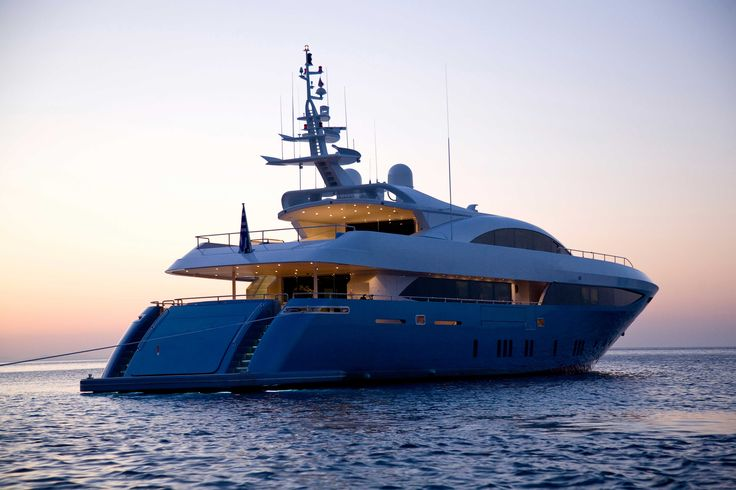 MY Barents Sea Yacht in Greece - Evening
