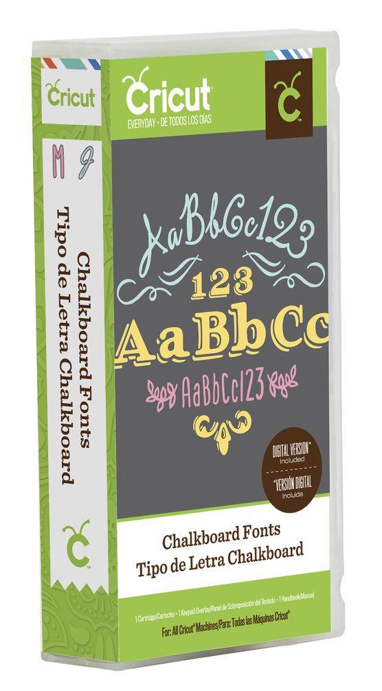 Cricut Chalkboard Font Everyday Cartridge