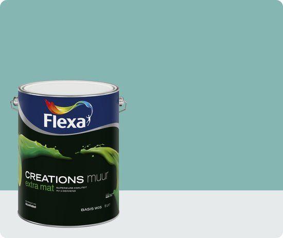 Flexa Creations Muurverf - Extra Mat - Vintage Blue - 1 liter
