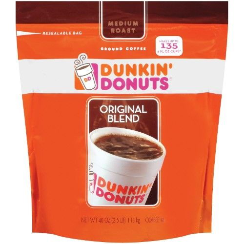 Dunkin' Donuts Medium Roast Ground Coffee, Original Blend